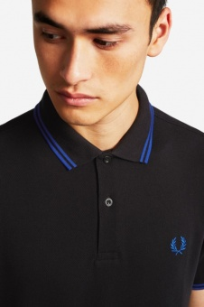 The Fred Perry Shirt - Black/Cobalt/Cobalt M3600