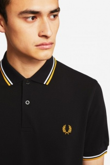 The Fred Perry Shirt - Black/White/Gold M3600
