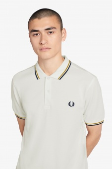 Fred Perry polo shirt Twin Tipped Snow White/Gold/Black