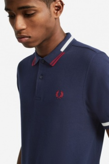 Abstract Tipped Polo Shirt m8551