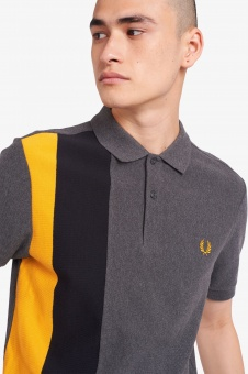Side Panel Stripe Polo Shirt