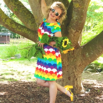 SANNA SAILOR Dress ss Rainbow