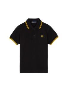 Kids Twin Tipped Shirt black/yellow