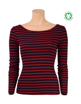 Lou Top Rib Stripe cherry