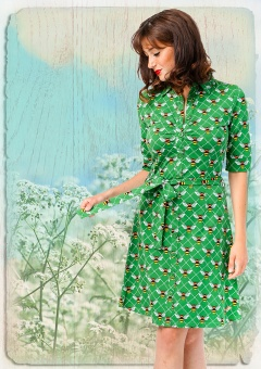 Button Down Dress Bee green