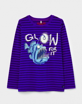 Raymond Blue Stripe Fish Glow In The Dark T-Shirt