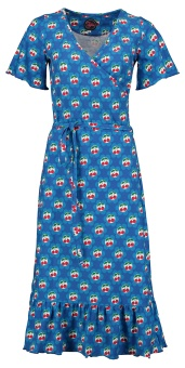 Hippie dress Cherrie in blossom blue