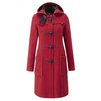 Duffle coat dam red