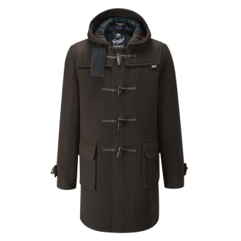 Morris Duffle Coat brown tartan