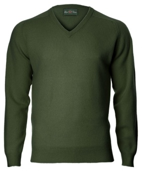 Alan Paine Kilsyth Saddle Shoulder V-neck Rosemary