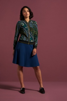 Sofia Skirt Milano Crepe Autumn Blue