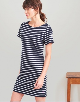 Riviera Short Sleeve Jersey Dress Navy