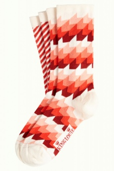 King Louie socks 2-Pack Daze fire red