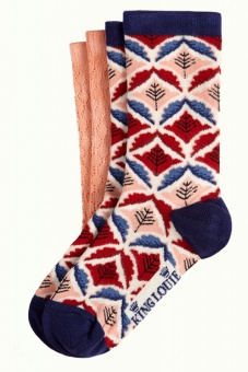 King Louie socks 2-Pack Medaillon Dazzling Blue