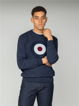 Applique target sweat dk navy