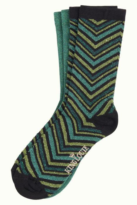 Socks 2-Pack Indra olive green