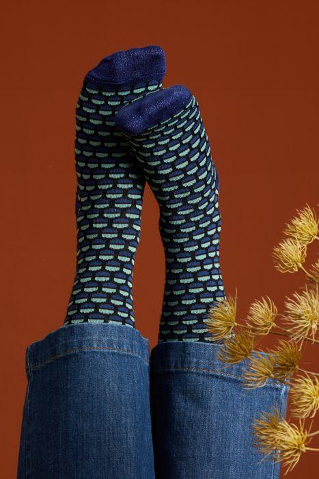 King Louie socks 2-Pack Globe Streeple Blue