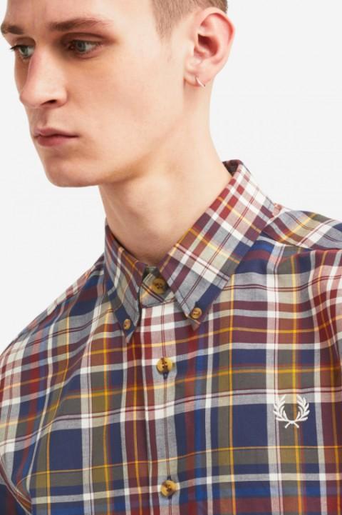 Fred Perry shirt Tartan navy
