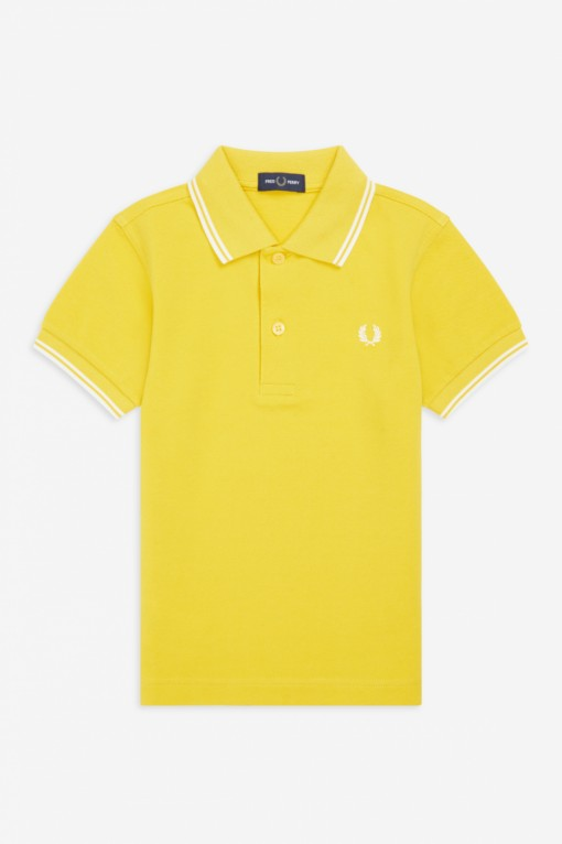 Fred Perry Kids Twin Tipped Shirt Sunglow
