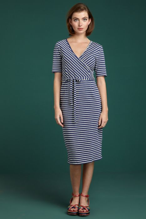 Anja Dress Breton Stripe blue