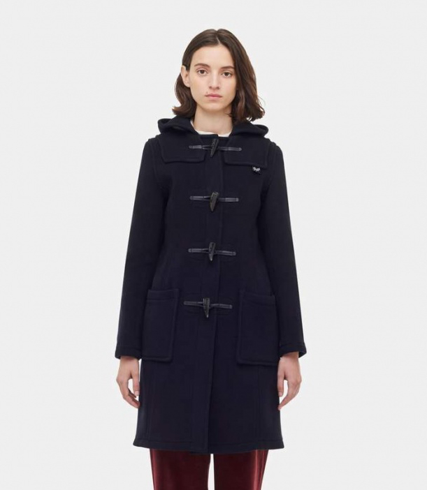 Women's Slim Fit Duffle Coat navy
