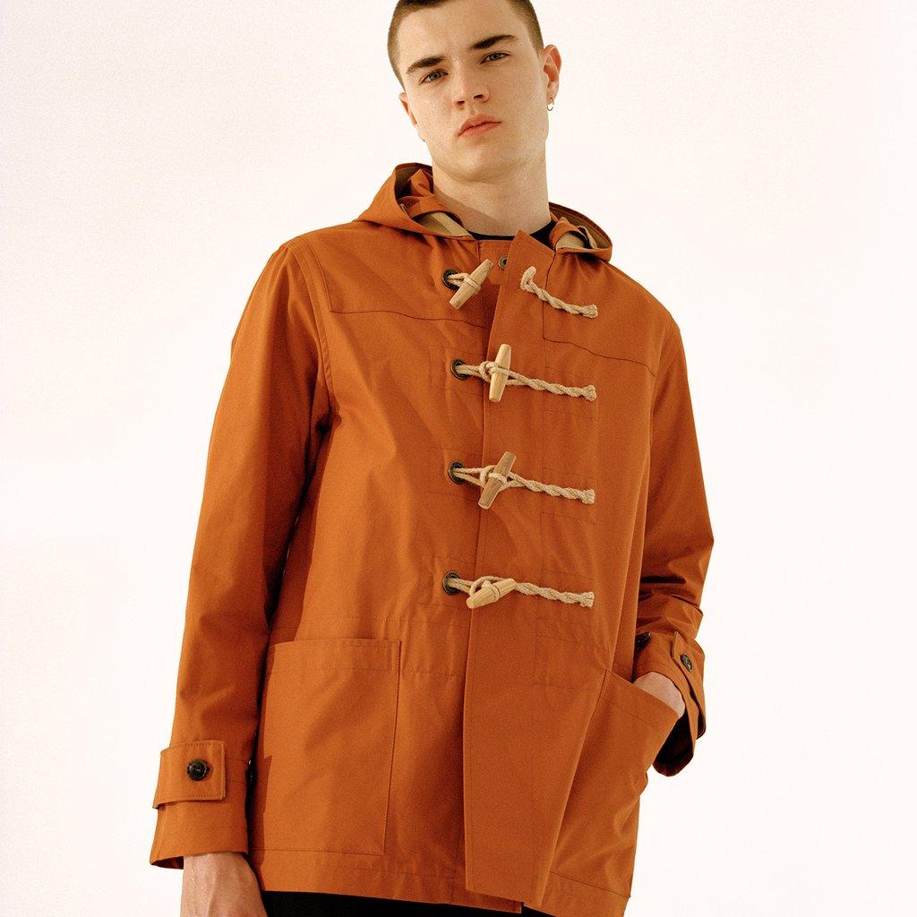 Mens Summer Monty Duffle Coat ginger