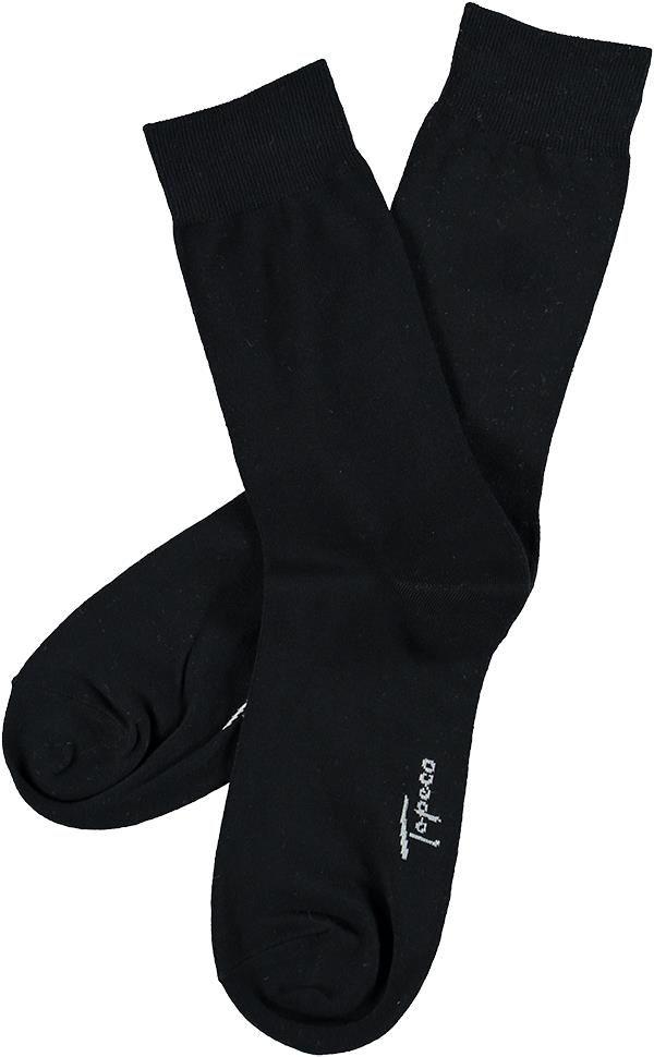 Enfärgad strumpa, svart bomull