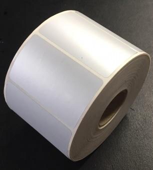 Polyester silver matt etikett