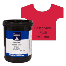 Texiplast 5000 Rosso vivo (Röd) ca 1 lit