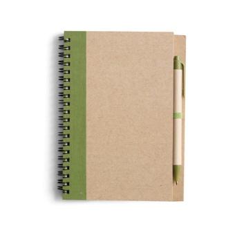 Block Econote inkl penna, Grön