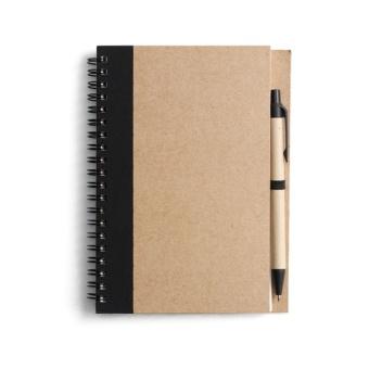 Block Econote inkl penna, Svart