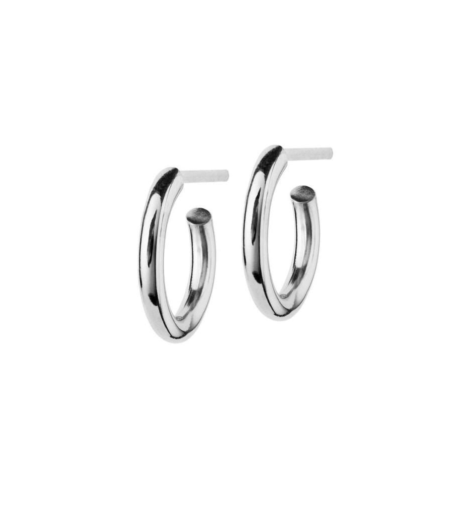 Hoops Earrings - Steel Small