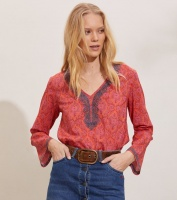 Isabelle Blouse - Living Coral