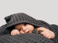 Baby Handduk - Mörkgrå