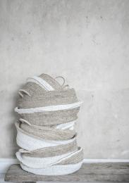 Rafia baskets - Natural white