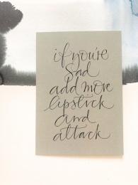 "Kort  A6 - ""Lipstick"""