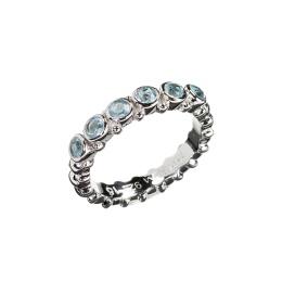 Ring Pretty Blue Topaz - Silver
