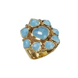 Ring Lola Blue Onyx - Gold
