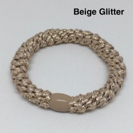 Supersnodden Hårband - Beige Glitter