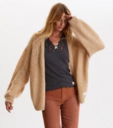 Novelty Cardigan - Soft Camel