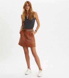 Living All The Way Skirt - Golden Brown