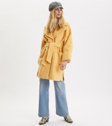 Caught You Looking Coat - Vintage Yellow