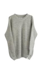 Elsa Knitted Sweater - Grey melange