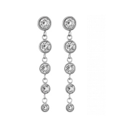 Dew Drop Earrings Multi - Steel