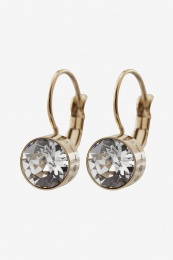 Diana Earrings - Clear Crystal / Gold