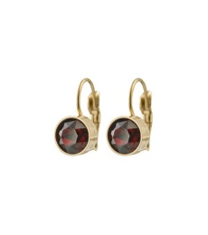 Diana Earrings - Plum Gold