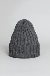 Mössa, Thick Rib Hat - Mörkgrå