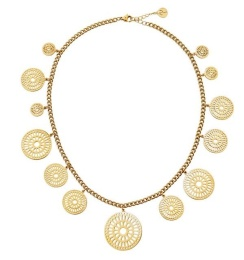 Farrah Necklace Multi - Gold