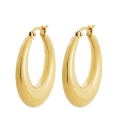 Flow Hoops L - Gold