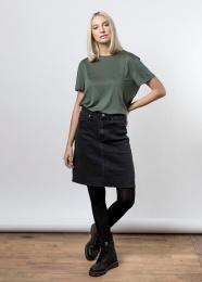 Bree Denim Skirt - Black